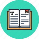 book, bookmark, education, history, knowledge, read, study, text icon