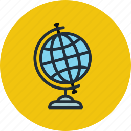academy, earth, education, geography, globe, study, teach, world icon