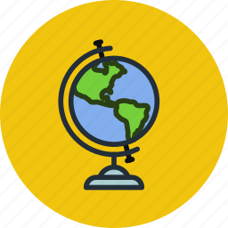 earth, education, geography, globe, map, study, world icon