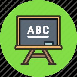 board, chalk, chalkboard, education, lesson, school, study icon