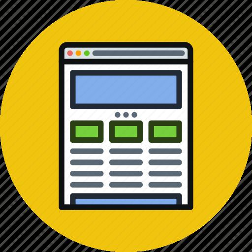 Browser, internet, responsive, web, website, wireframe icon - Download on Iconfinder