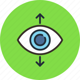 eye, find, focus, increase, perspective, search, sight, view icon