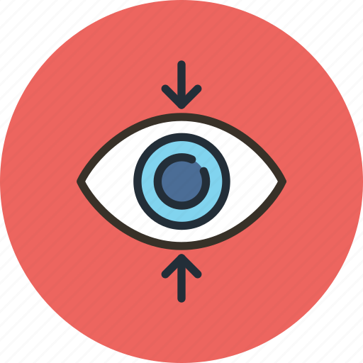 decrease, eye, find, focus, perspective, search, sight, view icon