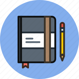 design, draft, draw, moleskine, notes, pencil, sketch, write icon