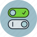 control, off, on, settings, switch, toggle, turn icon