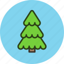 ecology, forest, park, spruce, tree icon