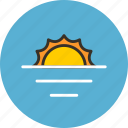 ecology, horizon, nature, sea, summer, sun, water icon