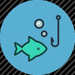 animal, fish, fishing, nature, underwater icon
