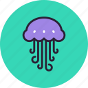 animal, jellyfish, medusa, nature, ocean, sea, water icon