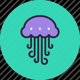 animal, jellyfish, medusa, nature, ocean, sea, water icon