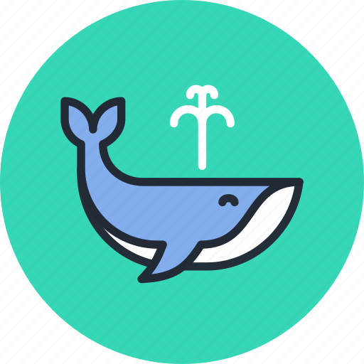 animal, mammal, marine, nature, orca, water, whale icon