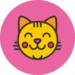 animal, cat, happy, kitten, kitty, nature, pussy icon