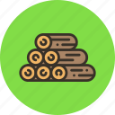 log, nature, resource, sawmill, wood icon