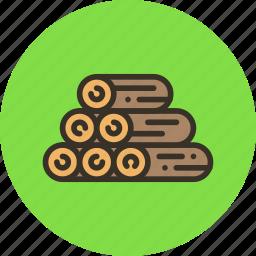 log, nature, resource, sawmill, wood icon