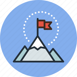 business, flag, goal, mountains, nature, rise, startup icon