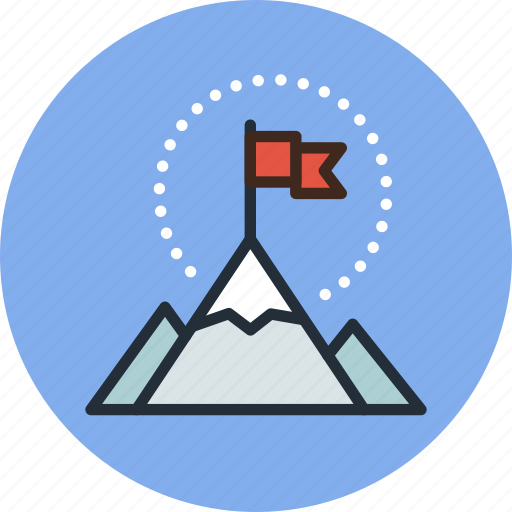 Business, flag, goal, mountains, rise, startup icon - Download on Iconfinder