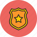 defense, guard, police, protect, security, sheriff, shield icon