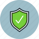 check, defense, firewall, guardian, protection, secure, shield icon