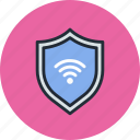 firewall, guard, internet, protect, security, shield, wifi icon