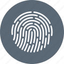finger, fingerprint, id, identity, print, security, touch icon
