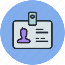 access, account, badge, card, id, security, user icon