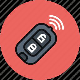 car, key, lock, radio, transport, wireless icon