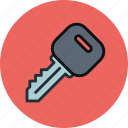car, key, lock, transport icon