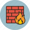 brick, defense, firewall, protection, security, threat, wall icon