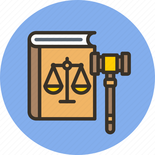 book, court, gavel, judge, justice, law, rules icon