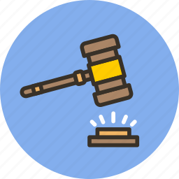 court, gavel, judge, justice, law icon