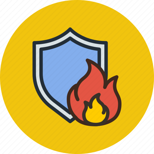 antivirus, fire, firewall, protection, security, shield icon