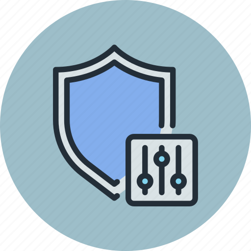 antivirus, defense, firewall, options, protection, security, settings, shield icon