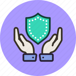 hands, insurance, keep, protection, safe, secure, security, shield icon