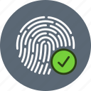 biometric, fingerprint, id, password, scan, security, touch