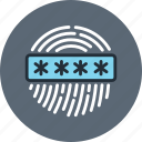 biometric, finger, fingerprint, id, password, scan, security, touch icon