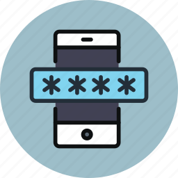 encryption, mobile, password, phone, protected, protection, secure, security icon