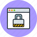 browser, encryption, lock, password, protection, security, web, website icon