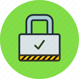check, lock, ok, padlock, password, private, protection, secure icon