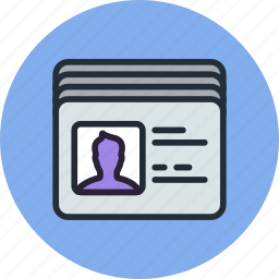 access, accounts, cards, employee, id, security, users icon