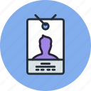 access, badge, card, employee, id, pass, security icon
