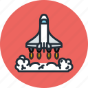 cosmos, exploration, launch, ship, shuttle, space, start, transport icon