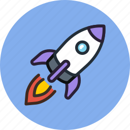 cosmos, exploration, launch, rocket, ship, space, start, transport icon