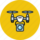 airdrone, camera, copter, drone, flying, quadcopter, spy icon