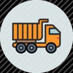 construction, transport, truck, unit, vehicle icon