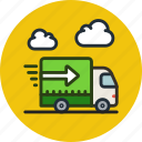delivery, logistics, lorry, shipping, transport, truck, vehicle icon