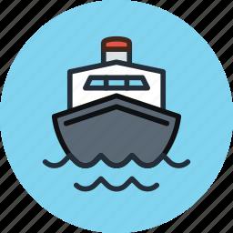 boat, cruise, marine, ocean, sea, ship, transport, travel icon