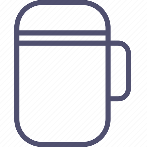 cold, drink, flask, hot, kitchen, soup, thermos, travel icon