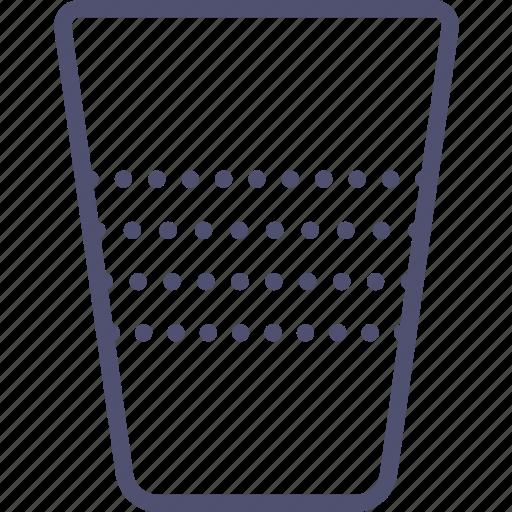 drink, food, glass, plastic icon