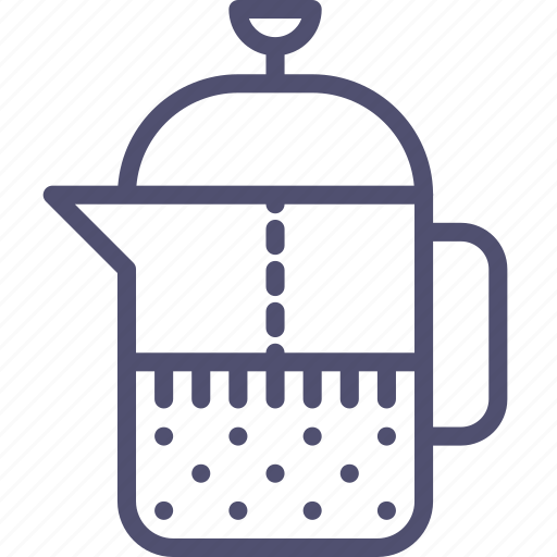 brewing, coffee, drink, food, french, press, tea, teapot icon