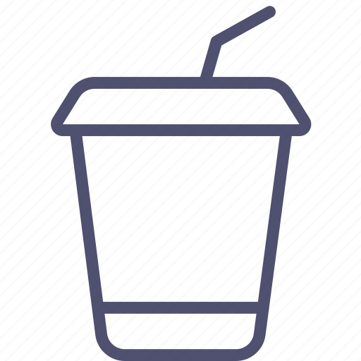 cocktail, cola, drink, food, glass, plastic, soda, takeaway, tubule icon